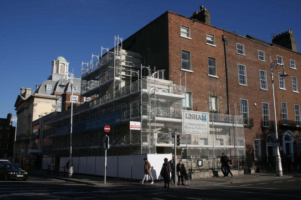 Oscar Wilde House scaffolding